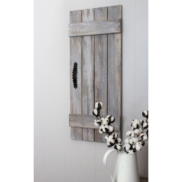 Wood Shutters Set Rustic Shutters Shutter Decor Barn Doors Weathered 60 Liked On Polyvore Featurin Wooden Doors Interior Wood Doors Interior Wood Doors