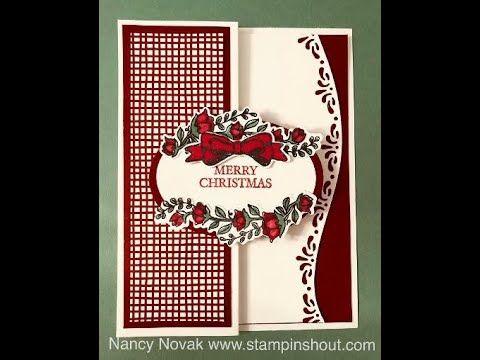 Curvy Celebrations Fun Fold Christmas card