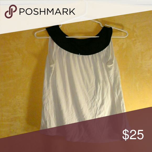 Size Large Summer Top Bundle Express loose dressy tank.Collar is black with black shimmer discs  Body Central tube top. Comfy and adorable with jeans or dress pants.. even a skirt! *Polyester/spandex tube top Express Tops