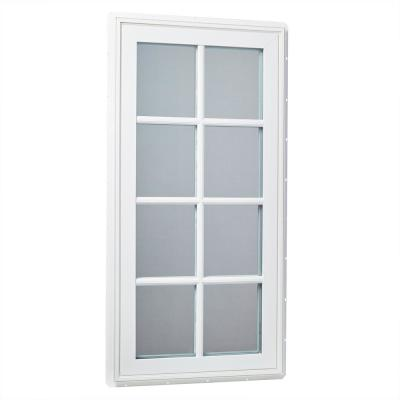 Tafco Windows 24 In X 48 In Right Hand Vinyl Casement Window With Sdl Outside Grids And Screen White Vcar2448 Osg The Home Depot Vinyl Casement Windows Casement Windows Casement