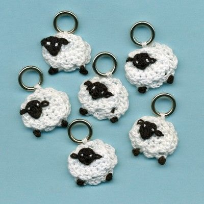 Lantern Moon Sheep Stitch Markers in Stitch Markers, Holders & Point Prot...