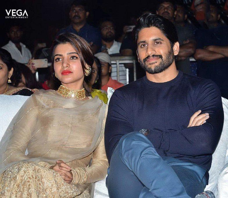 Beautiful #Samantha & #NagaChaitanya at #Hello Pre-Release