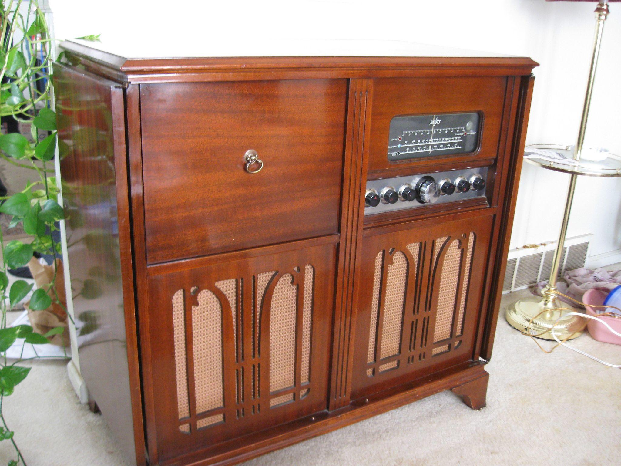 Scott Radio Ca 1960 S Cabinet Doors Radio Cabinet