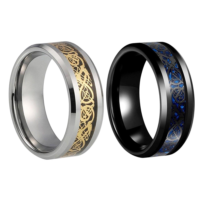 DRAGON Tungsten Carbide Ring For Mens Women Wedding Band