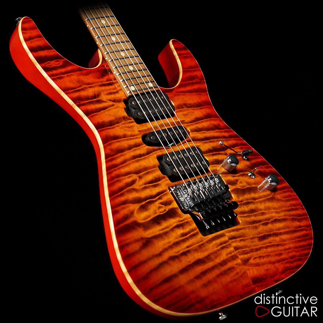 Tom Anderson Angel Quilt Maple Ginger Burst Classic Guitar Custom Guitars Suhr
