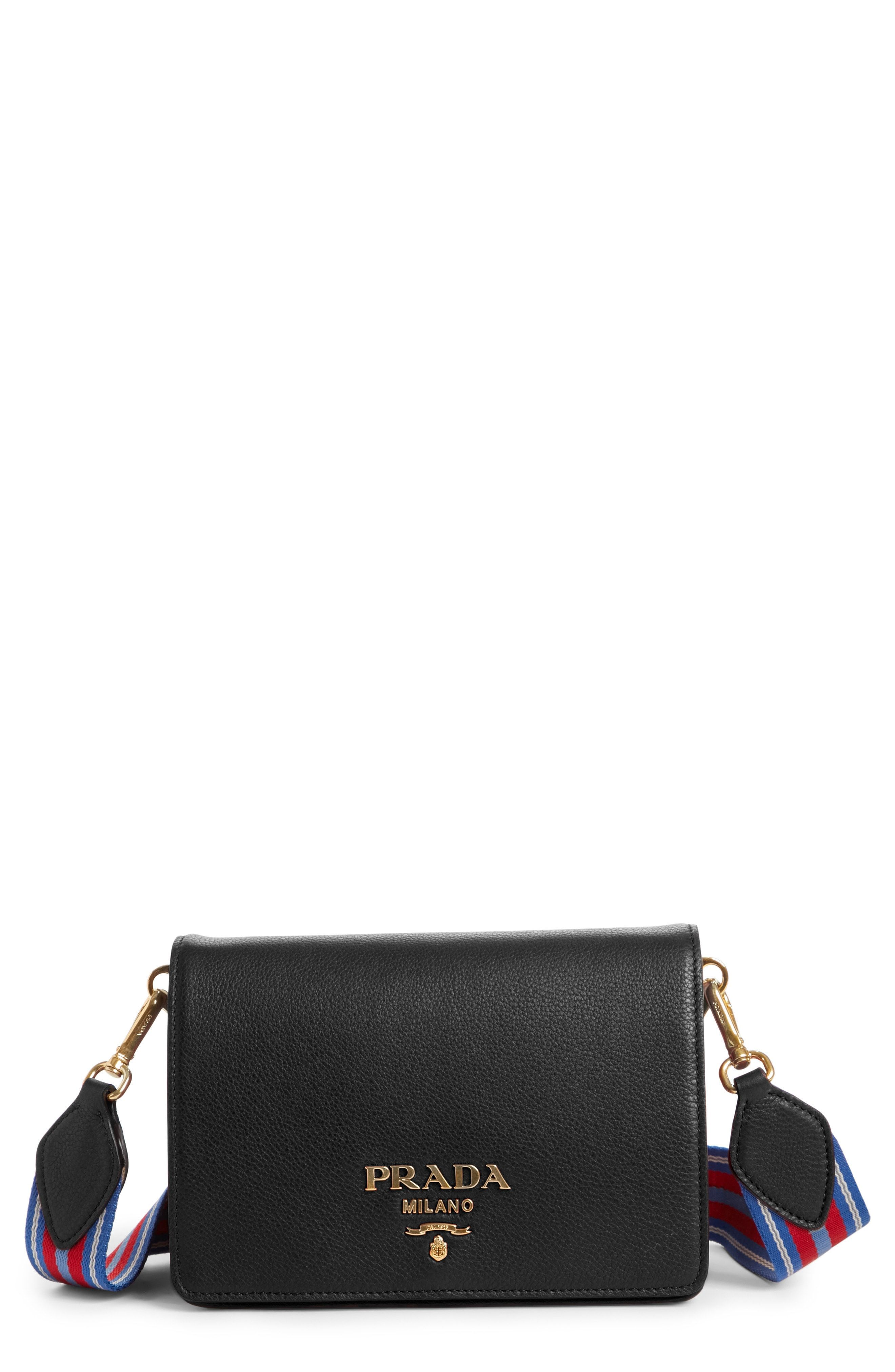 09b005959eaf Prada Vitello Daino Double Compartment Leather Shoulder Bag available at  #Nordstrom