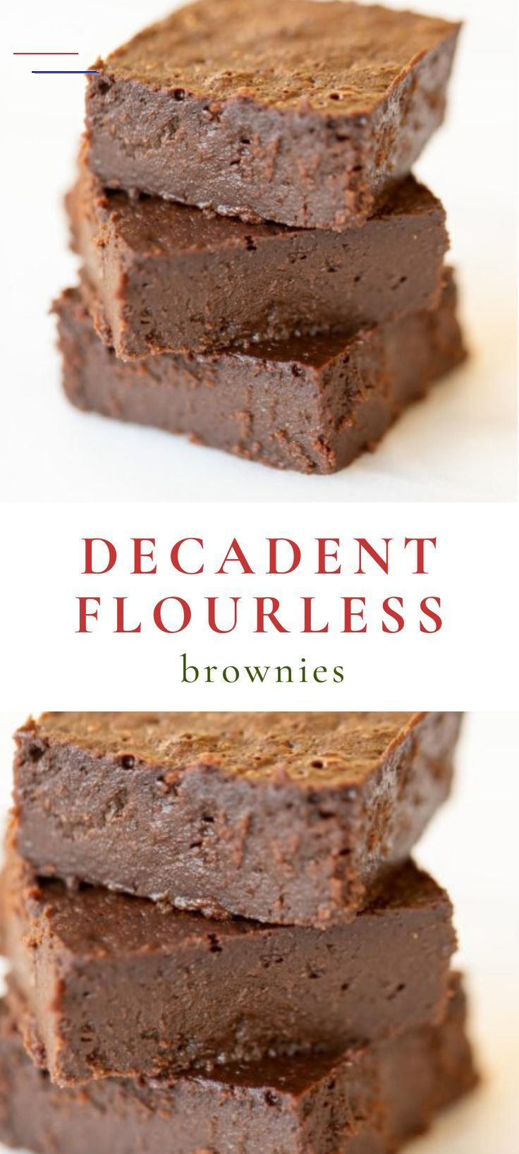 These decadent flourless brownies are made with dark chocolate, which creates the most incredible gluten free brownies you've ever had! They are easy to make with just a handful of ingredients and are so rich and flavorful. These will become your go to recipe for no flour brownies! <a class=pintag href=/explore/brownies/ title=#brownies explore Pinterest>#brownies</a> <a class=pintag href=/explore/glutenfree/ title=#glutenfree explore Pinterest>#glutenfree</a>  These decadent flourless brownies