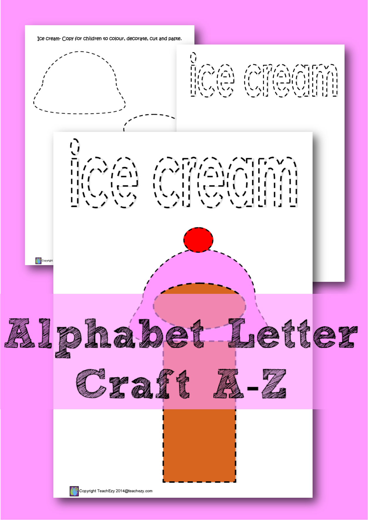 Learning the letter \'I\'. A color, cut and paste activity for every ...