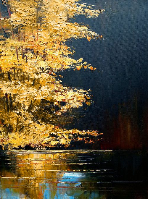 River By Justyna Kopania Abstract Fine Art Painting Techniques