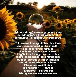 Morning everyone on a shake it shake it shake it baby Friday!