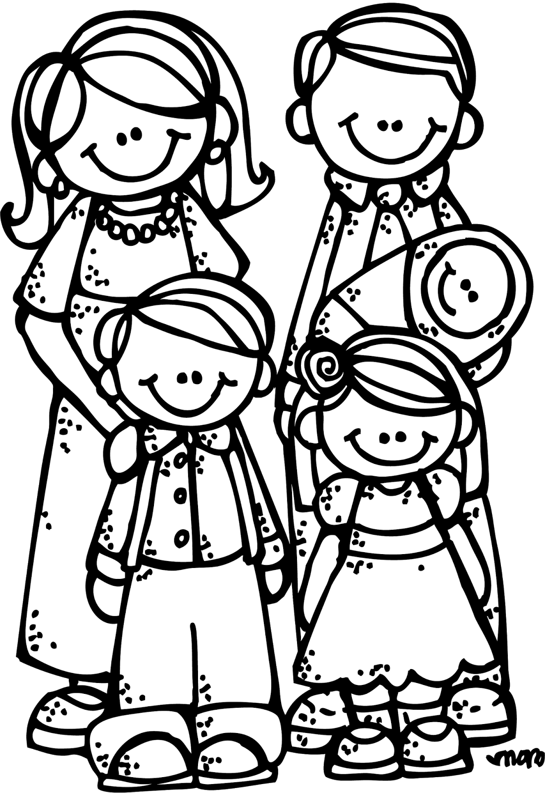 Lds Clipart Black And White Family Home Evening