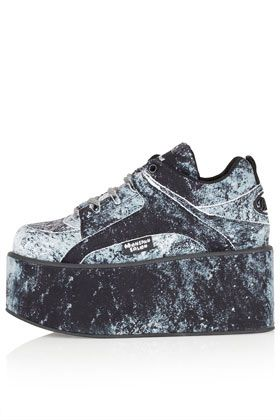 Chaussures Buffalo à semelles compensées plates MOONSPOON