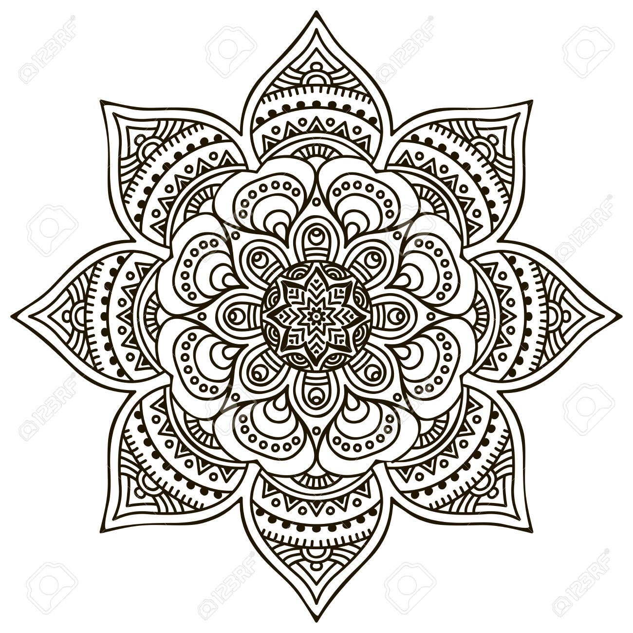 mandala round ornament coloring pages mandelas u0026 zentangles
