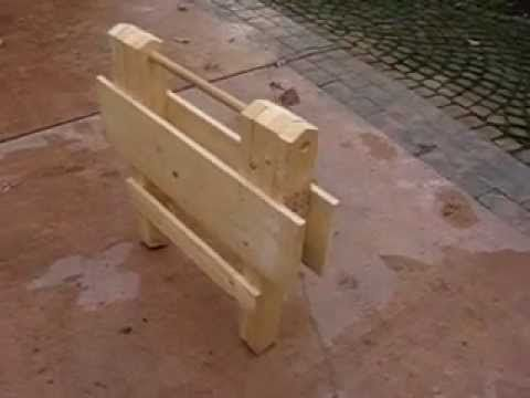 Folding Wooden Work Table Part 1 Of 9 Youtube Work