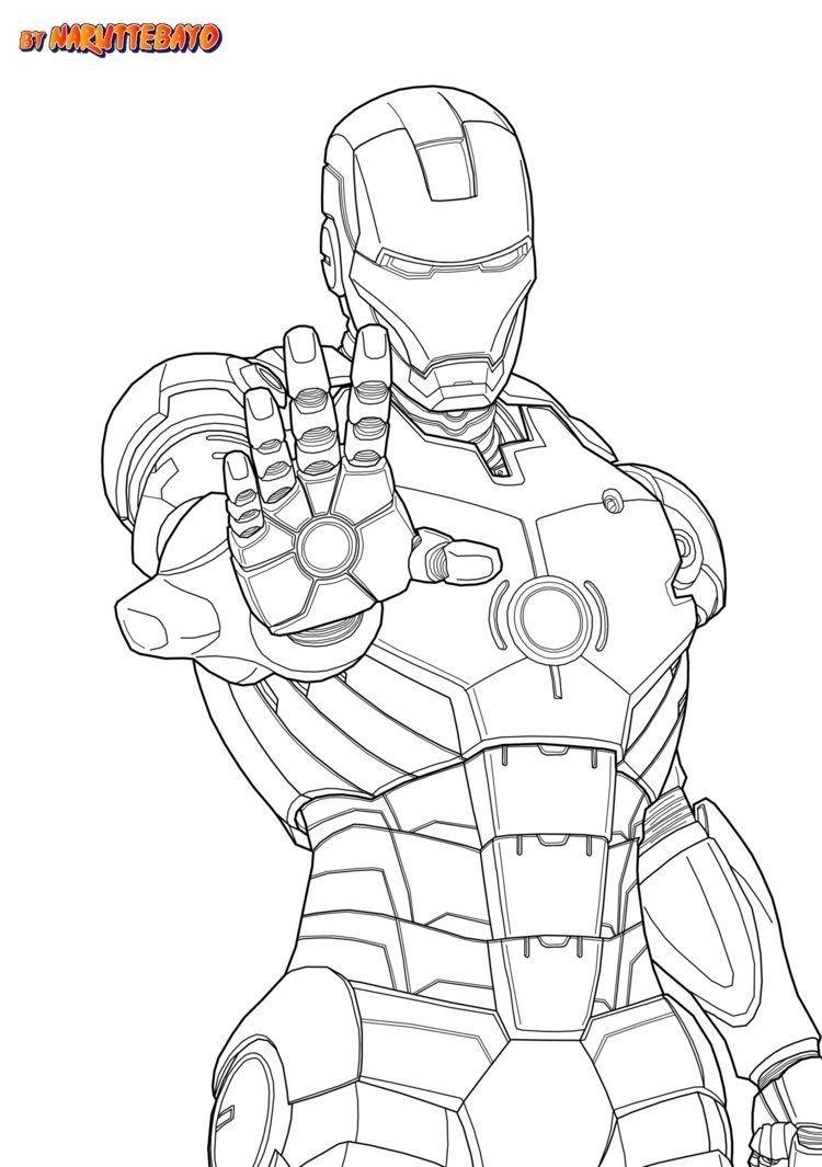 Malvorlagen Iron Man Buku Mewarnai Sketsa Lembar Mewarnai