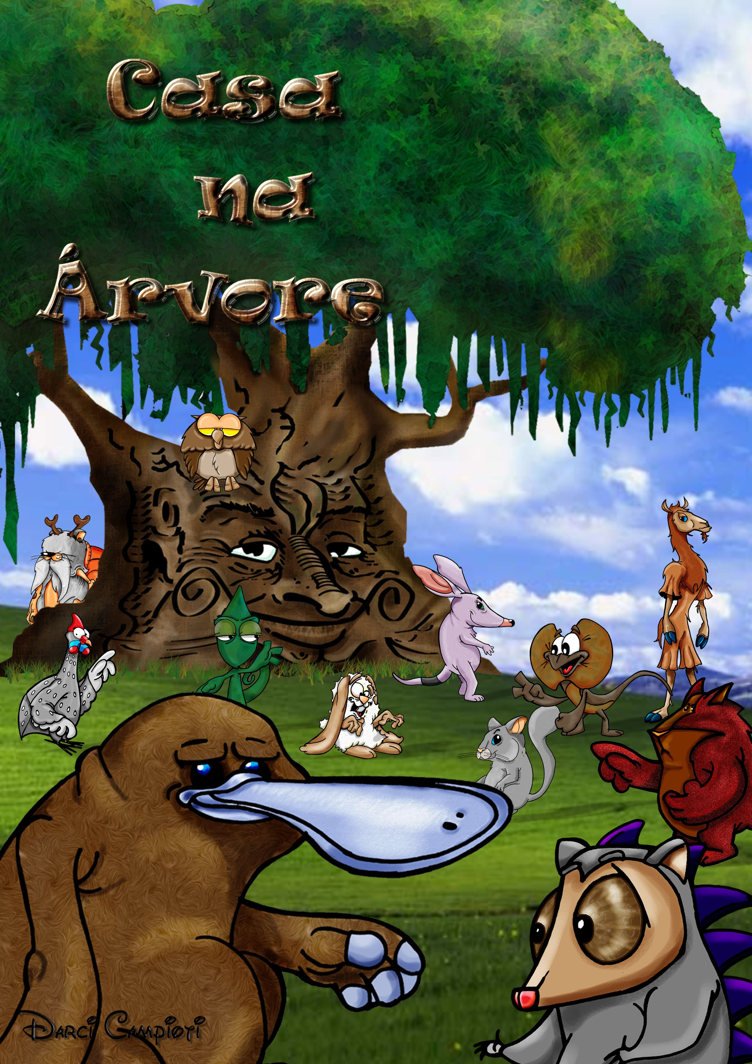 História em quadrinhos- Casa na Árvore - Criação: Darci Campioti visite: www.institutodeartesdarcicampioti.blogspot.com.br