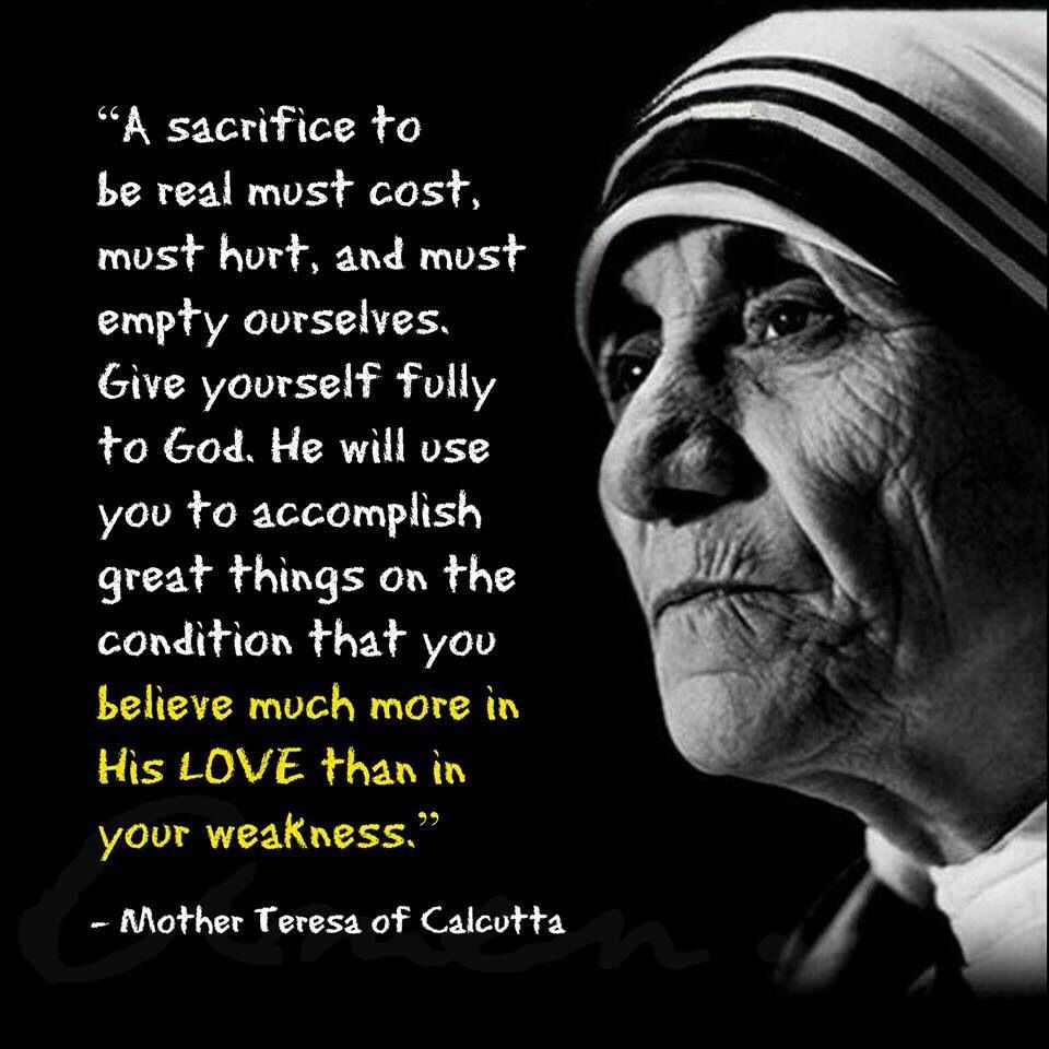 Quote From Mother Teresa: Mother Teresa A Beautiful Human Being With A Beautiful