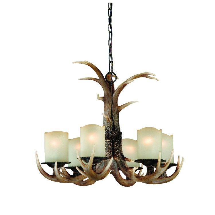 Yoho faux antler 6 light chandelier 69899 red lodge lighting yoho faux antler 6 light chandelier 69899 mozeypictures Image collections