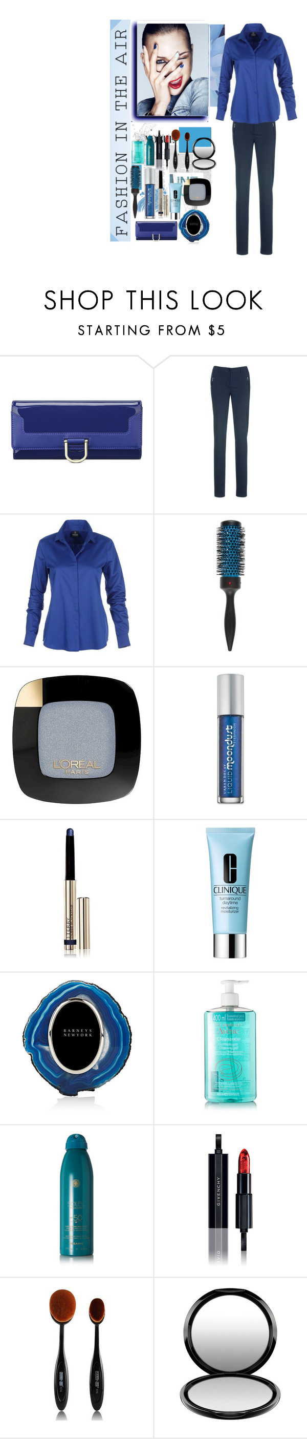 """Blue chic"" by krystalkm-7 ❤ liked on Polyvore featuring Nine West, Denman, L'Oréal Paris, Urban Decay, By Terry, Clinique, Anna New York, Avène, Soleil Toujours and Givenchy"