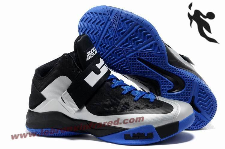 C 091 Nike Zoom LeBron Soldier 6 (VI) Black Silver Royal Sale 889aa760d