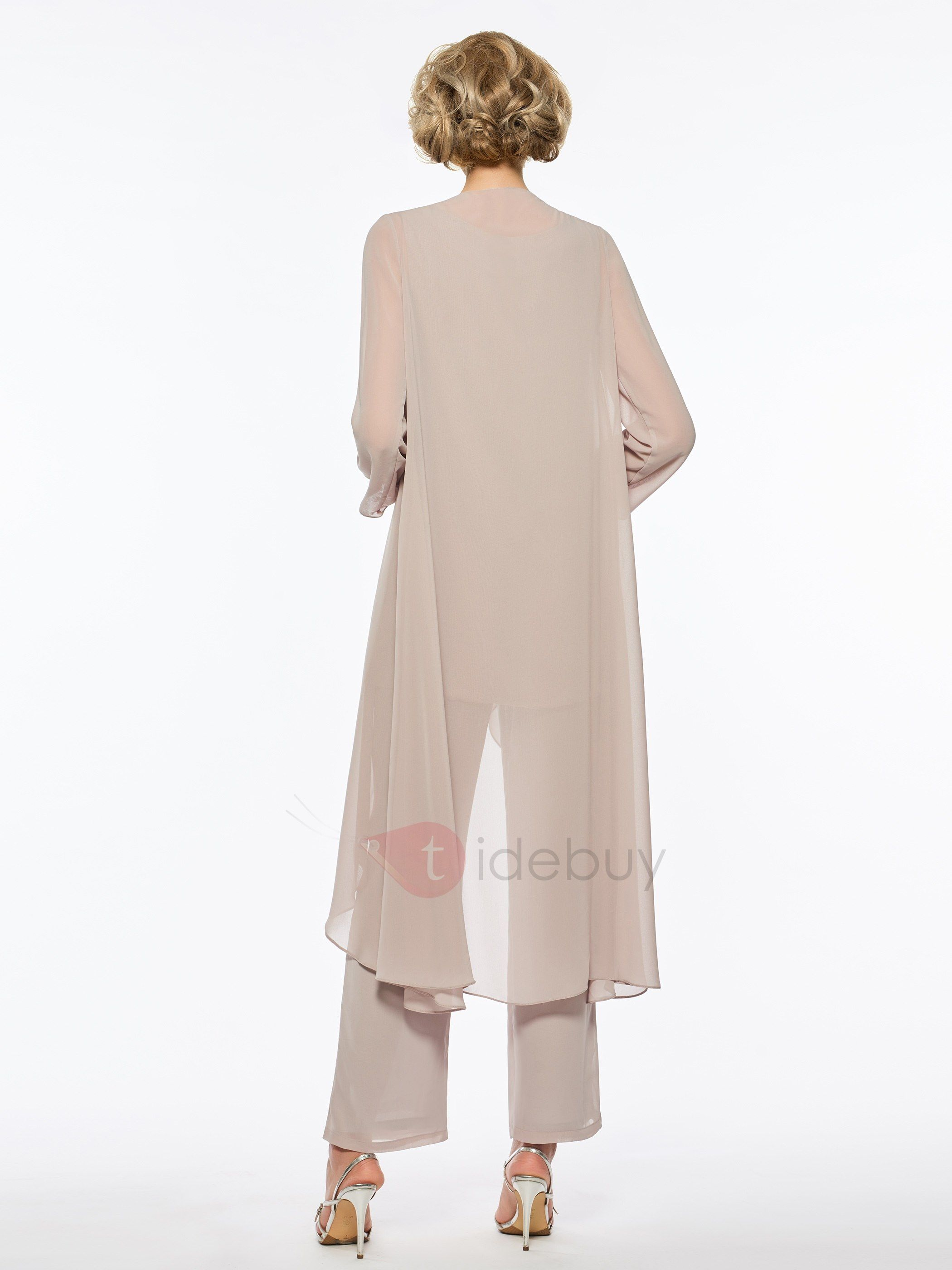 560fc8f512a Tidebuy.com Offers High Quality Pure Mother of the Bride Jumpsuit with Long  Sleeve Jacket