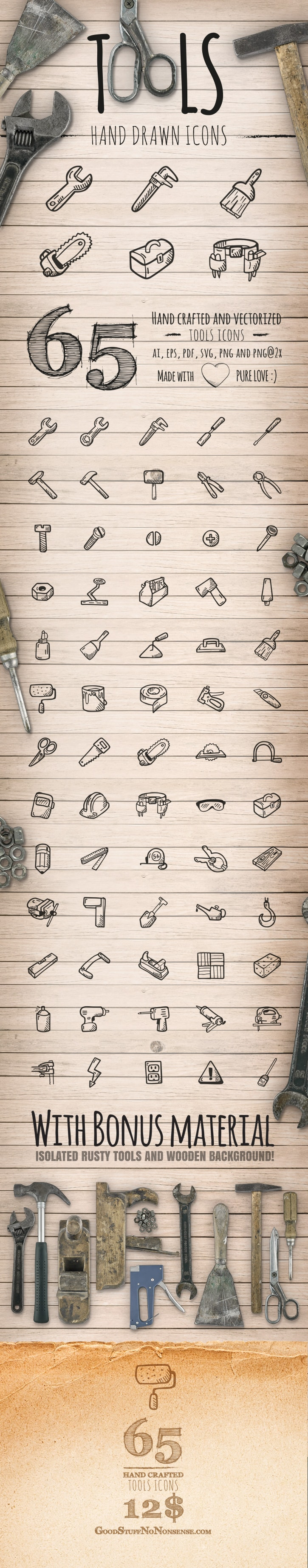 Tools Icons - Good Stuff No Nonsense