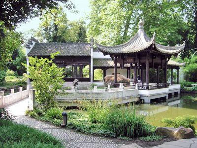 Frankfurt Bethmann Park Chinesischer Garten Frankfurt - chinesischer garten brucke
