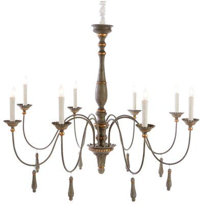Aidan Gray Agen 8 Light Candle Style Chandelier Large