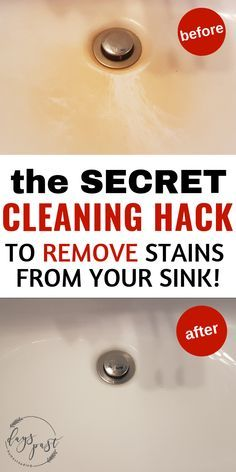 Bathroom Cleaning Hack For Yellow Stains In The Sink No