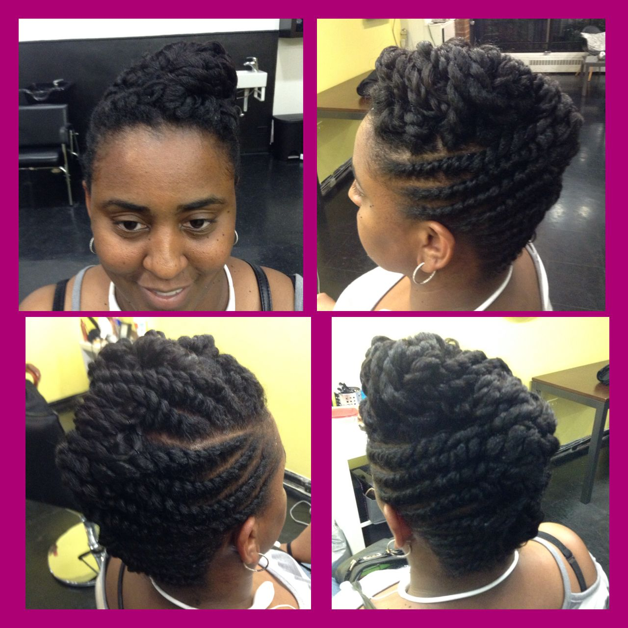 Natural Hair Flat Twist Updo Bespoke