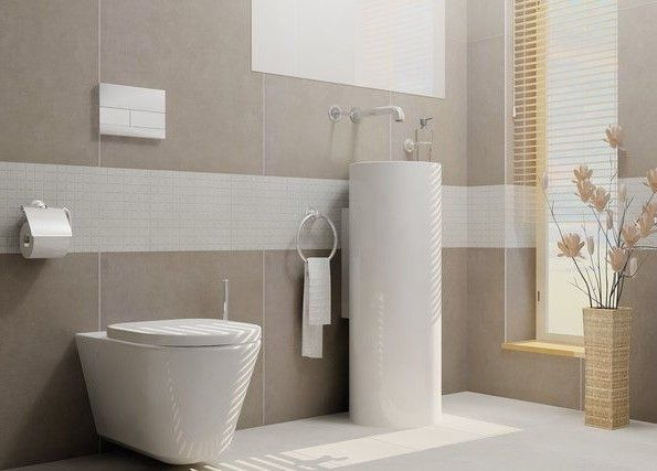 Attractive Fliesen Grau Badezimmer Modern Beige Grau Ihausdekor Badezimmer  Idea