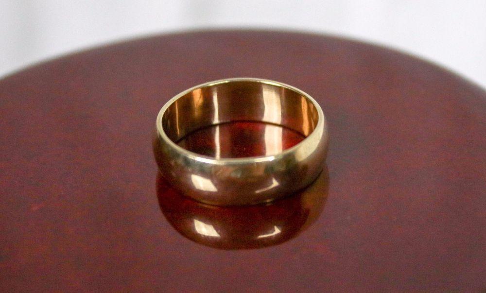 Vintage 10k Gold Filled Cigar Band Ring Stamped LEGI