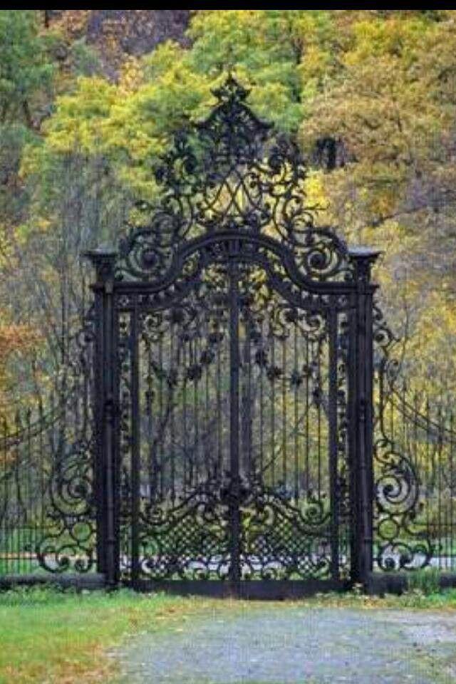 }{ Ornate old gate | Old gates, Gate design, Iron gates