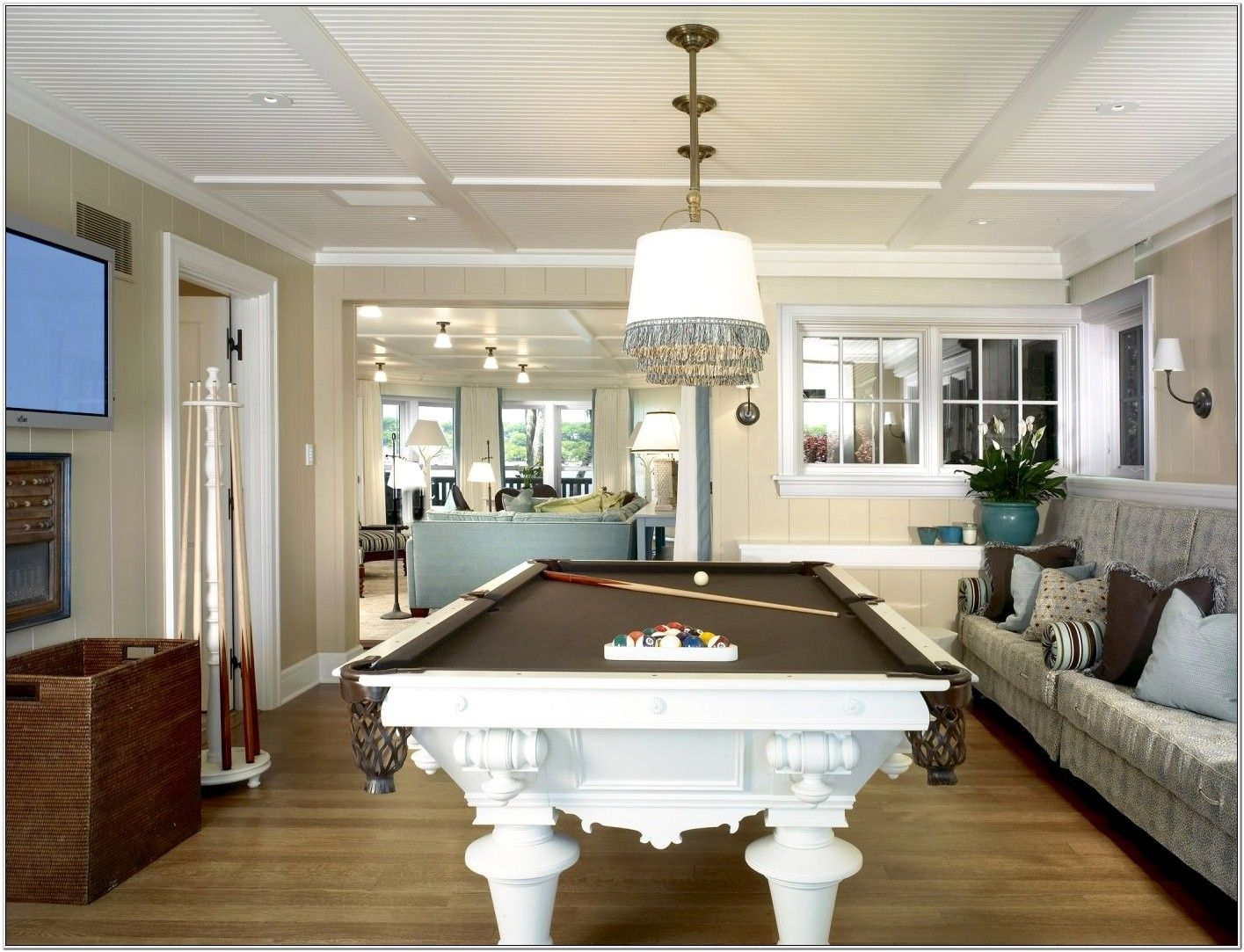Pool Table In Formal Living Room Ideas White Pool Table Pool Table Room Formal Living Rooms