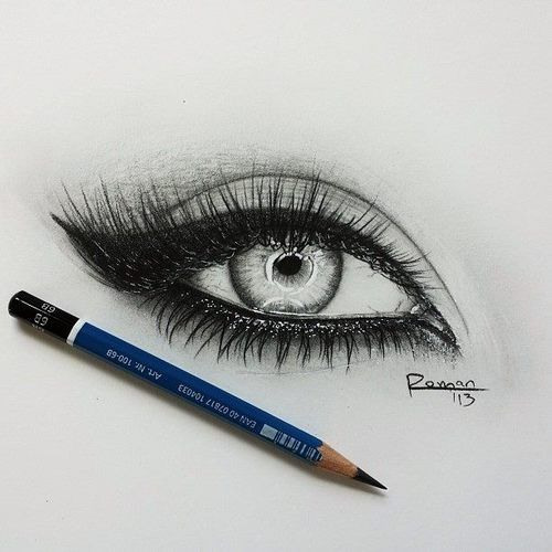Draw eye painting pencil