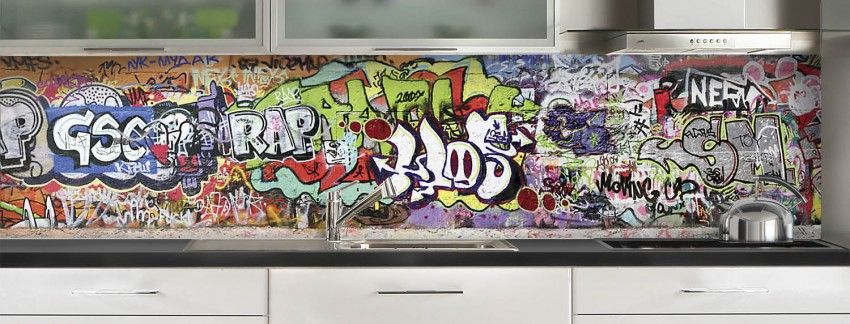 Credence De Cuisine Graffitis Credence Cuisine Credence Credence Deco