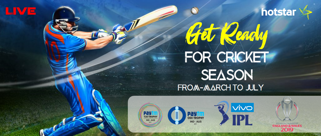 Get Ready for Cricket Season with Hotstar  Log on to us hotstar com