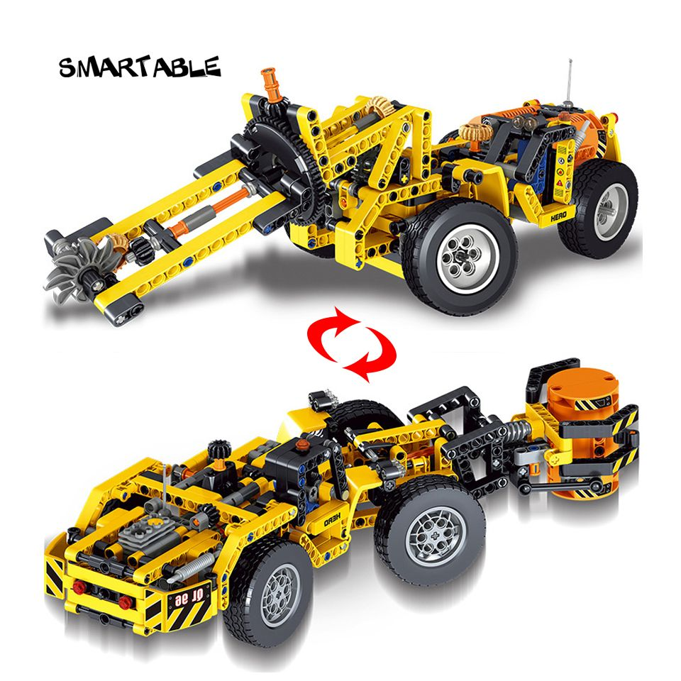 Lego car toys  Smartable Technic series Mining Engineering vehicle Building Brick