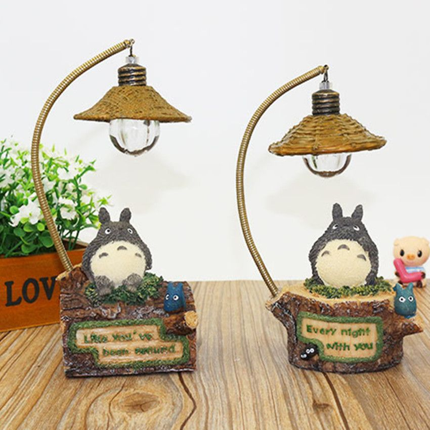 Cute Flexible Totoro Lamp Romantic Led Night Light Table Lamp Children Birthday Gift Kids Toy Home Decor Craft De Romantic Decor Decor Crafts Light Decorations