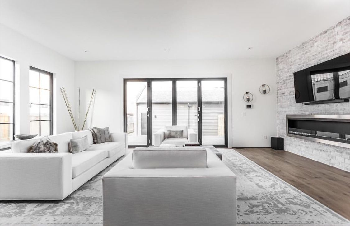 Ultra Modern Condo Living Room Decorated In Minimalist Style With