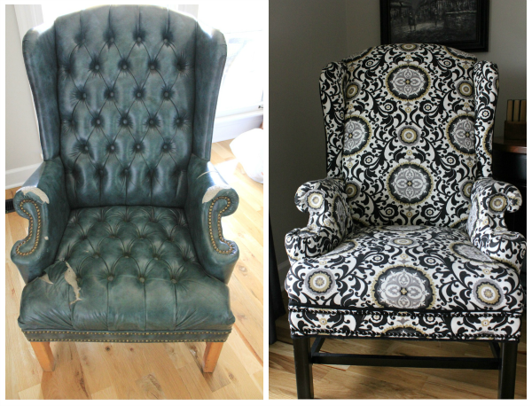 reupholstering a wingback chair a no sew method wingback chairs