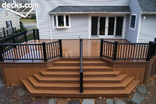 Build Deck High Off Ground Steps Down To A Patio Google