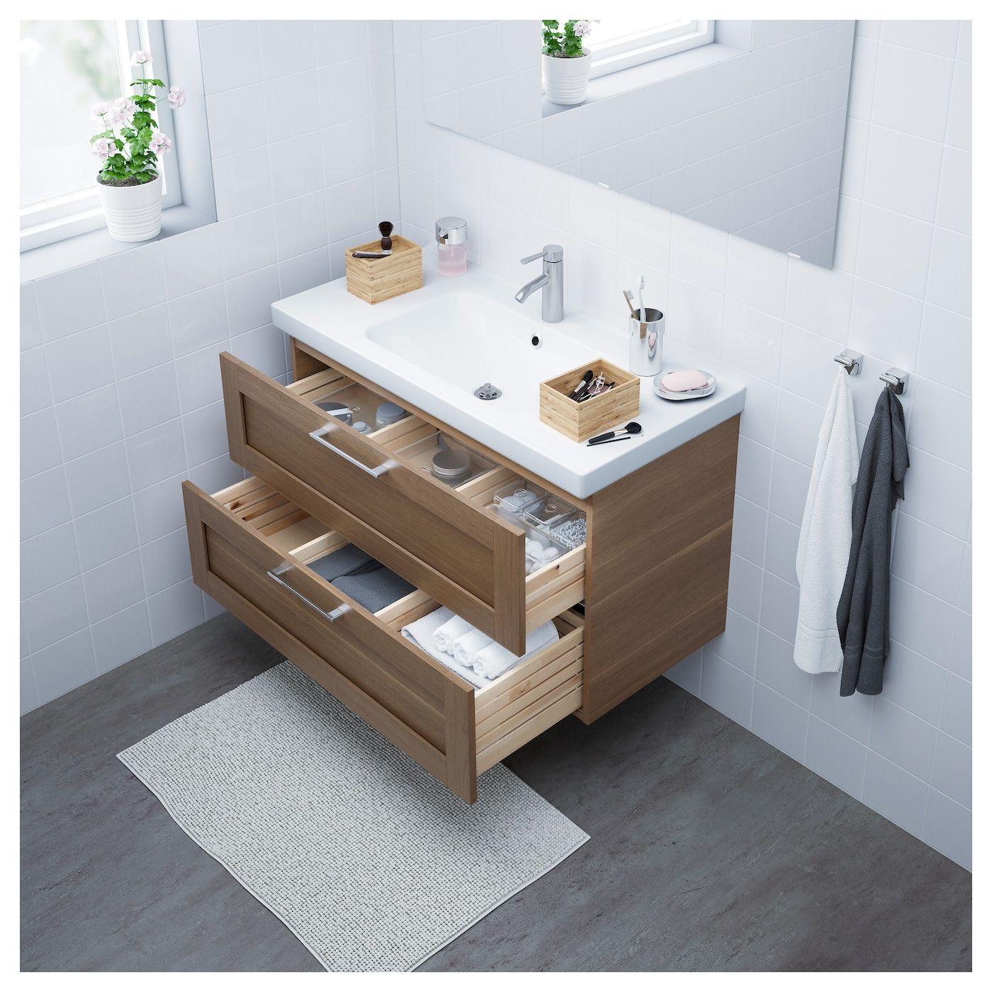 Ikea Godmorgon Odensvik Sink Cabinet With 2 Drawers Bathroom