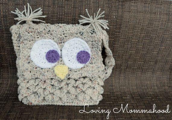 Owl Tote Pattern Crochet Owl Bag Crochet Owl Purse Owl