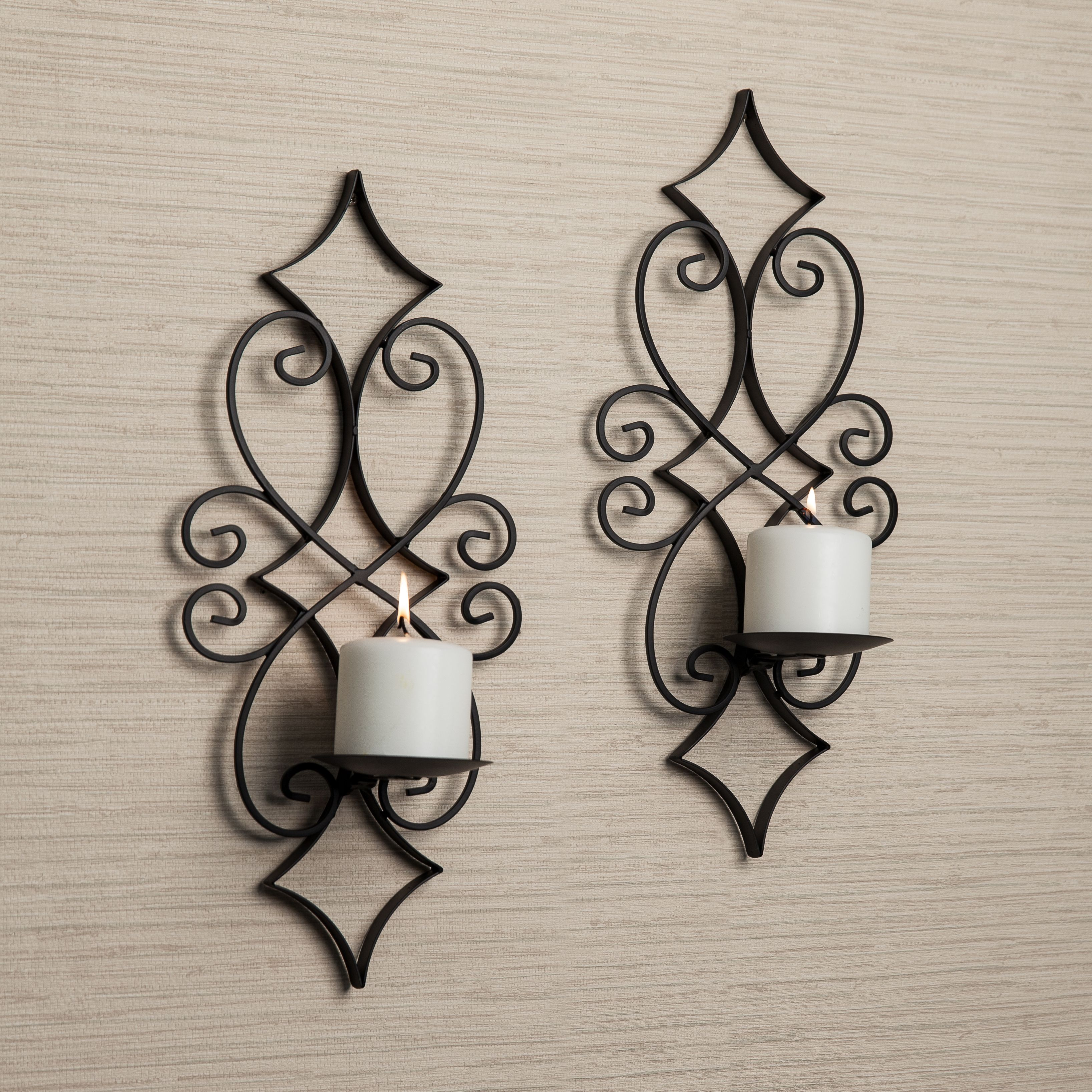 Casablanca Candle Sconce Set Danya B In 2021 Iron Wall Sconces Wall Candles Decorative Wall Sconces