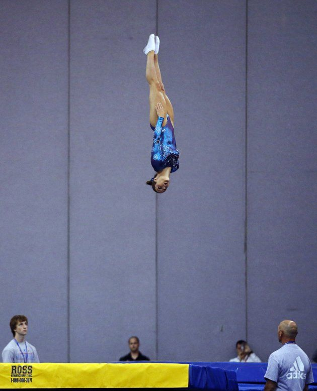 Savannah Vinsant Competes During The Women's Trampoline