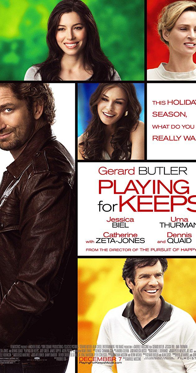 Directed by Gabriele Muccino.  With Gerard Butler, Jessica Biel, Dennis Quaid, Noah Lomax. A former sports star who's fallen on hard times starts coaching his son's soccer team as a way to get his life together. His attempts to become an adult are met with challenges from the attractive soccer moms who pursue him at every turn.