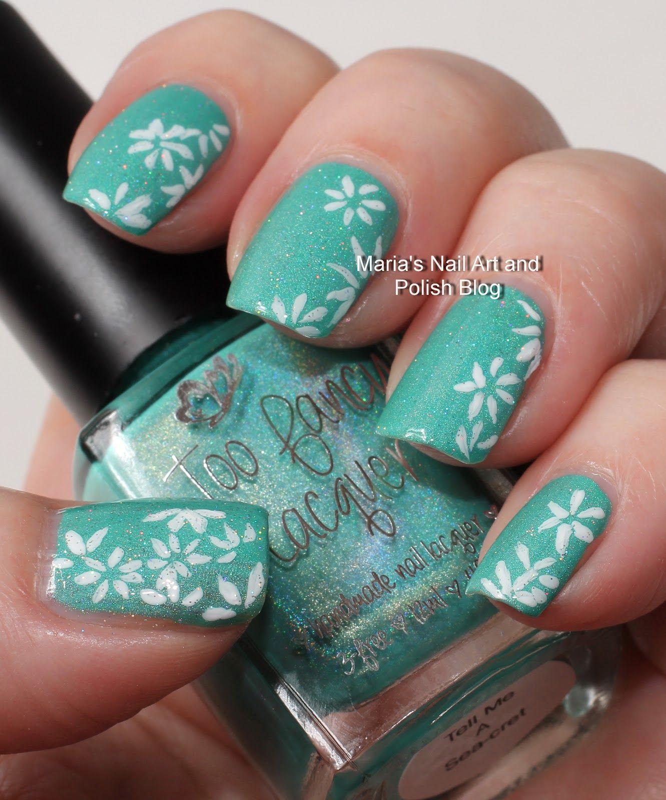 Marias Nail Art and Polish Blog: Daisy nail art | Nails | Pinterest ...