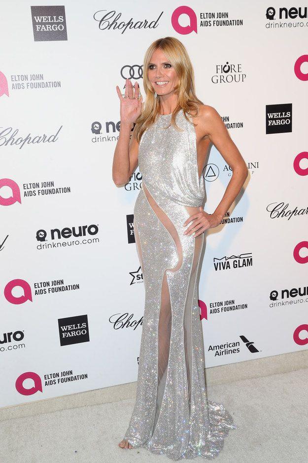 Heidi Klum | Y aquí está lo que cada quien llevó puesto en las fiestas después de los Oscares