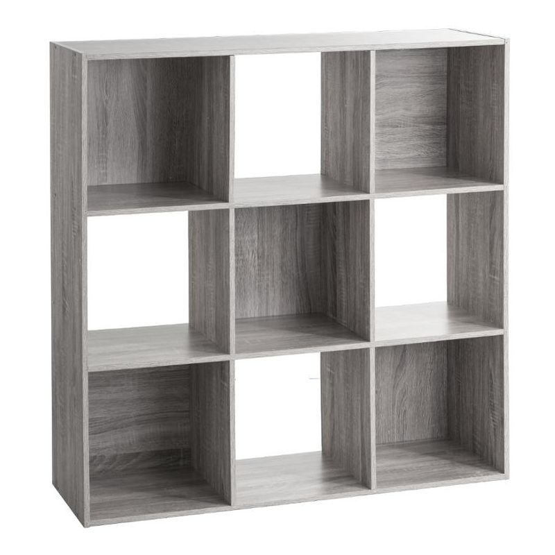 Etagere 9 Cases Mixe Gris Five 138971a In 2020 Bookcase